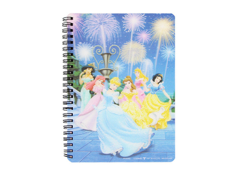Notebook Printing Princess Hard Cover grating printing spiral bound book printing service